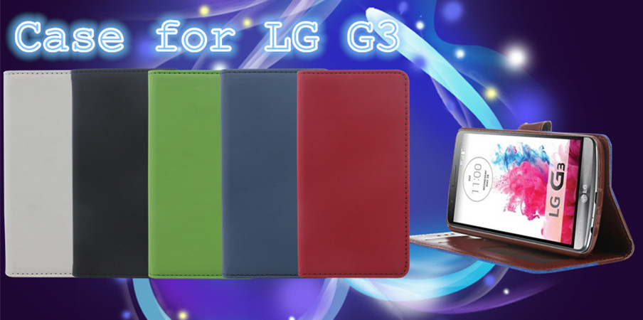 New Style Leather Wallet Mobile Phone Case for LG G3