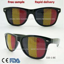 Belgium flag glasses custom LOGO Fans eye glasses Promotional eyewear flag sunglasses 300