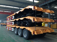 Chinese suppliers truck trailer tri-axle flatbed trailer 30ton for sale