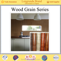 Longrunda Factory Price Bulk Wholesale china supplier wood grain design printing paper roll for kitchen furniture