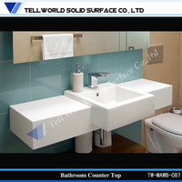 selling popular bathroom cabinets wash basin sink made by acrylic solid surface