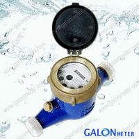 Multi-jet liquid sealed water meter