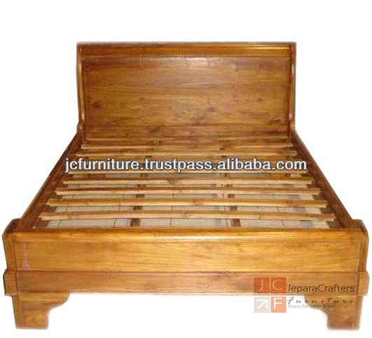 Bedroom Furniture Sleigh Bed Solid Teak Wood Indonesia Buy Teak Wood Beds Models Sleigh Bed