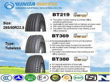 Radial truck tyre TBR tyre tubeless type 295/80R22.5 ECE/DOT/GCC/INMETRO certificate BOTO tyre Chinese best tyre supplier