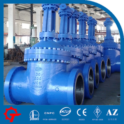China manufacturers WC6 worm gear operated wedge gate valve