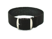 Perlon Tropic Braided Woven Watch Strap With Brushed Buckle