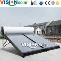Compititive price commercial solar hot water with panel collector