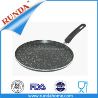 Auminum non-stick pizza pan with inner mable coating