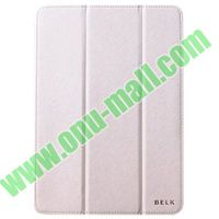 BELK series 3 Folding Cross Texture Leather Smart Cover for iPad Air with Stand