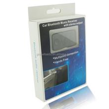 Hot Wholesale Speaker adapter wireless 3.5mm jack mini Bluetooth handsfree car kit audio adapter bluetooth stereo music receiver