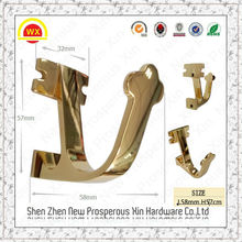 Wholesale wrought iron wall hanging clothes brass hook to hang clothes