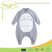 BSB156 soft breathable printed animal shaped children sleeping bag, baby sleeping bag wholesale
