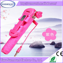 2015 Fashion super Mini wholesale selfie stick Extendable Handheld Beautiful Mono pod Selfie Stick For Smartphone