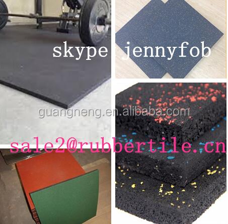 1 Meter Square Rubber Floor Tiles