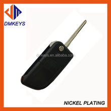High quality Peugeot 407 blade 3 button flip remote key blank NO battery place ) (No Logo)/key shell/blank car key