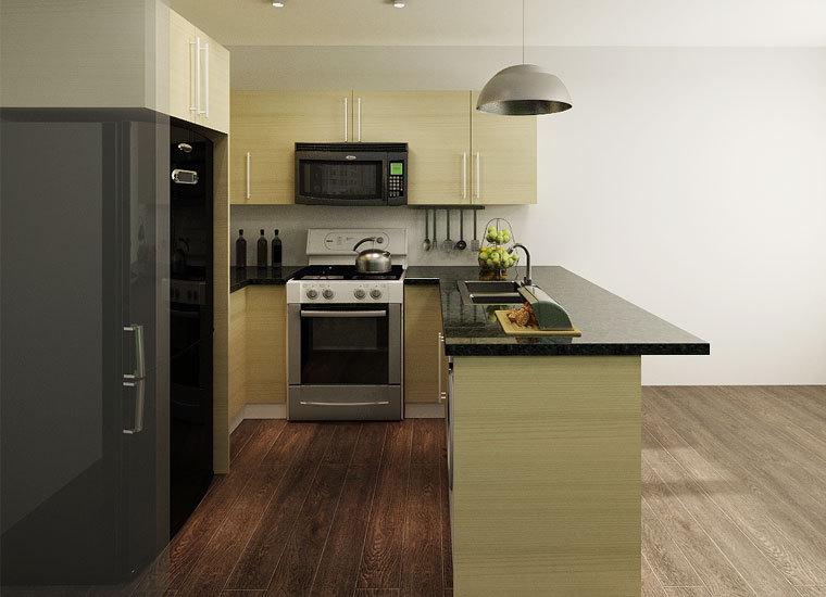 Personalizado 2014 l- en forma de gabinetes de cocina de muebles de ...