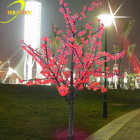 LED lighting tree with flowers decorative tree branches for sale