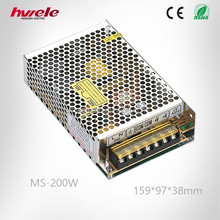 MS-200W MINI switch mode power supply with SGS,CE,ROHS,TUV,KC,CCC certification