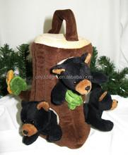 Woodland Animal Tree House Finger Puppet Set/ Tree Finger Puppet House/ Tree house for Pets