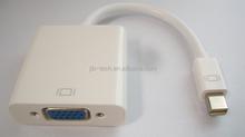 Mini DP/displayport male toVGA female adaptor, WHITE, with High quality
