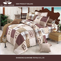 Luxury reactive printing branded print quilt cover set bedding set bed sheet set