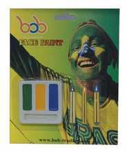 Brazilian World Cup face paint knife blade damascus