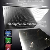 Amazing design 1000*1000mm square automatic temperature control led bathroom shower head