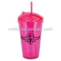 small plastic tumbler mug with cover