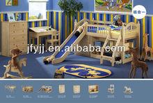 Los niños funcional loft sólida cama de madera de pino cama( modelo: ms116)
