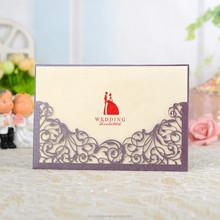 Luxe Invitation de mariage avec mariée et le marié papier décoration