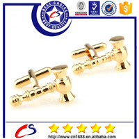 gold plated polish shining suit shirt cufflinks for mens