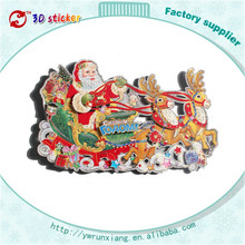 3D Christmas products, paper window decorations, reindeer sticker glitter in China