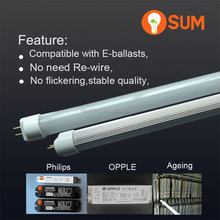 2015 factory offer T5 compatible with electronic ballast led tube 120cm