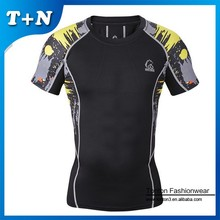 all over sublimation printing compression t-shirt for men