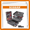 188pcs aluminum trolley case kraft welle hand tool set