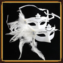 Simple Beautiful Design Feather Cocktail Masquerade Party Mask