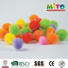 factory supply hign quality lowprice colorful craft pompons