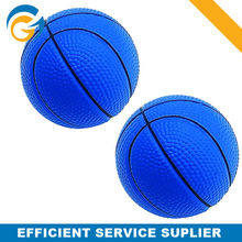 OEM PU Stress Balls Foam Basketball Shining Blue Color Basketball