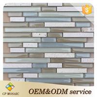 Foshan Manufacturer Fireplace Design Borders Tile Travertine Mosaic