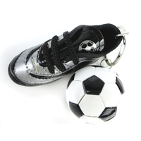 Promotional gifts 2014 Brazil World Cup Football Soccer Ball Sneakers Key Chain for wholesale