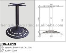 antique outdoor garden black cast iron table base