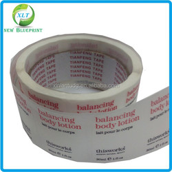 Good quality permanent adhesive waterproof transparent clear labels