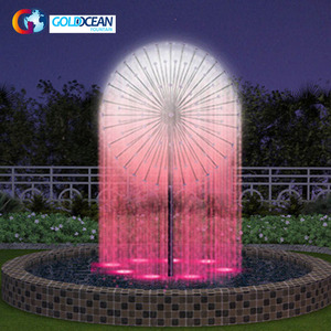 2 m diámetro piscina diente forma Spray fuente de agua