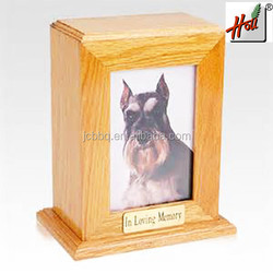 2015 New design customized pet solid wood casket for sale HCGB8602