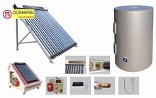 Split pressurized solar water heater solar panel mounting