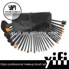Pro 32pcs Makeup Brushes Set High Quality Blush Leather Case, emily makeup brush