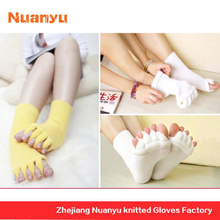 Hot Sale Japanese Health Care Toe Socks For Yoga Massage Five Toe , Open-Toed,Acrylic For Men Lady