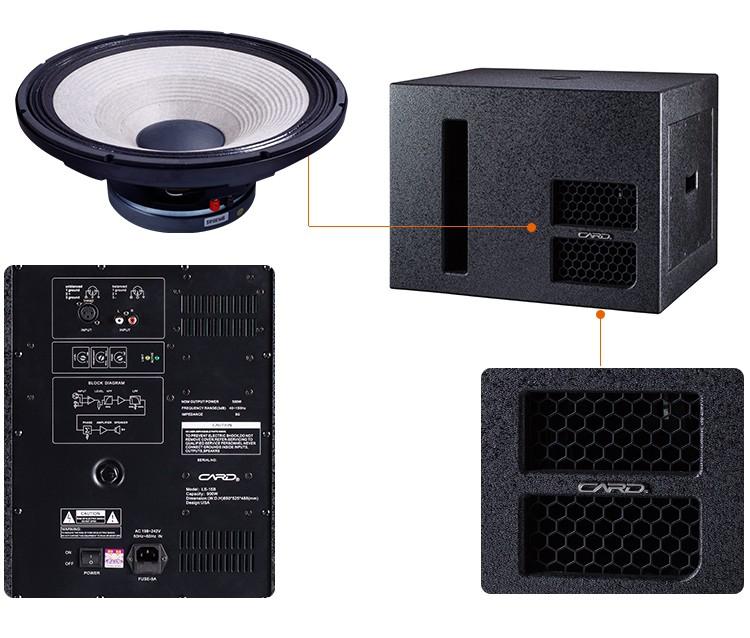 Nuevas características 35Hz-250Hz Respuesta de frecuencia sub Bass activo altavoces de rango completo