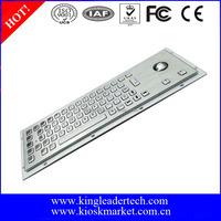 Metal Keys Computer Keyboard with Trackball for Panel Mount