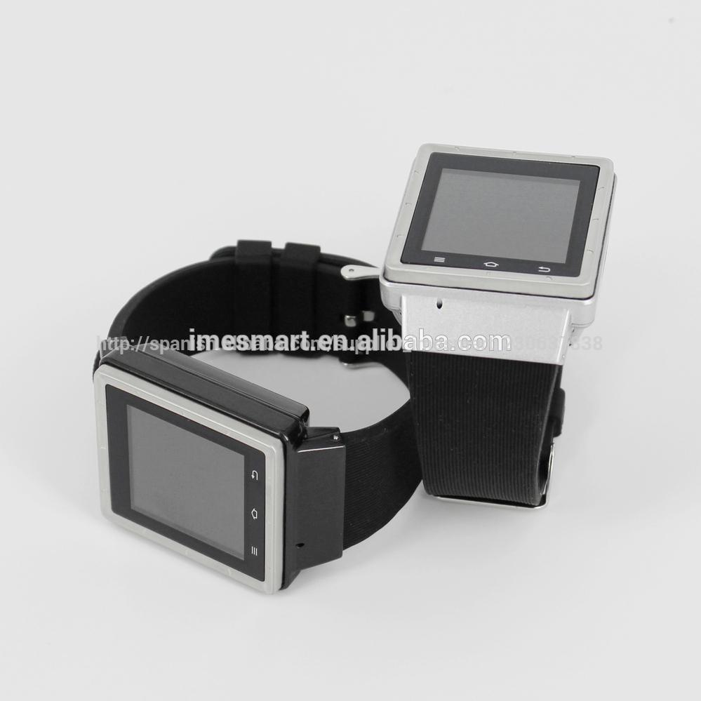 china 2014 de moda reloj de los hombres wifi de navegación gps bluetooth fm reloj inteligente con la cámara